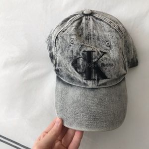 CalvinKlein Black Denim Baseball Cap